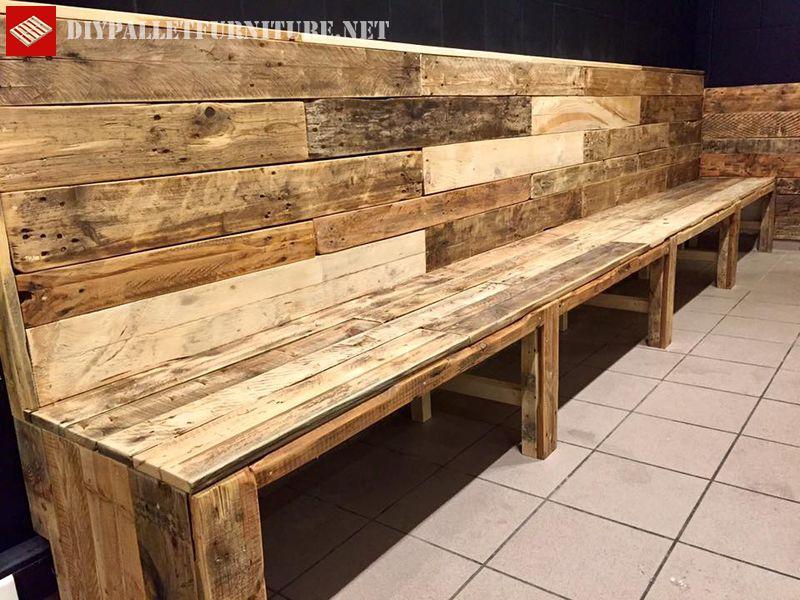Banc de palette pour barmeuble en palette meuble en palette - Construire un bar en palette ...