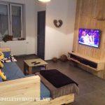 Salon complet meublé avec palettes