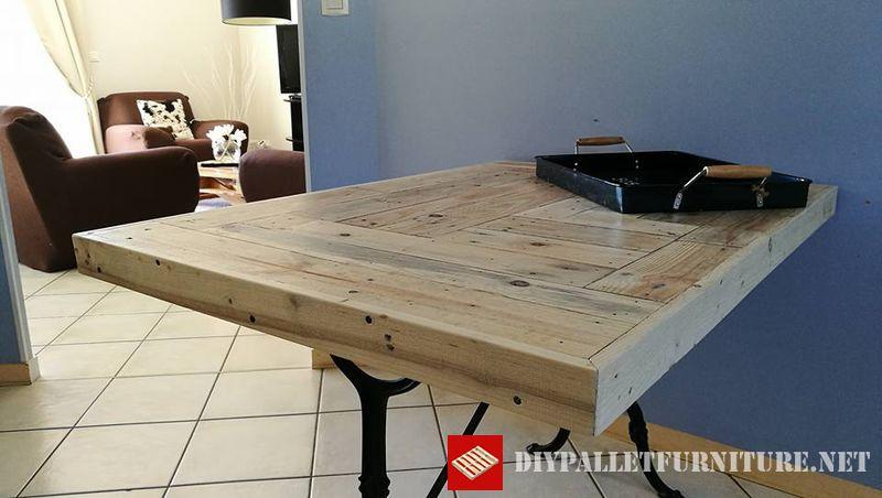 Table De Cuisine Adapt E Avec Palettesmeuble En Palette Meuble En Palette