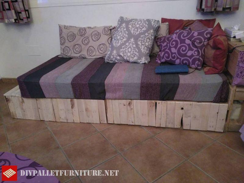 Divan Lits : Divan lit avec palettesmeuble en palette meuble en palette