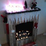 Foyer de Noël de palettes