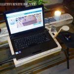 Support pour ordinateur portable avec palettes