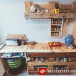 Meubles de cuisine auxiliaires avec palettes