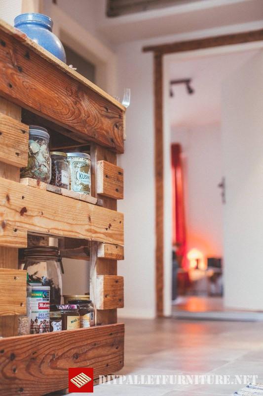 Meubles de cuisine auxiliaires avec palettesmeuble en for Meuble a boisson