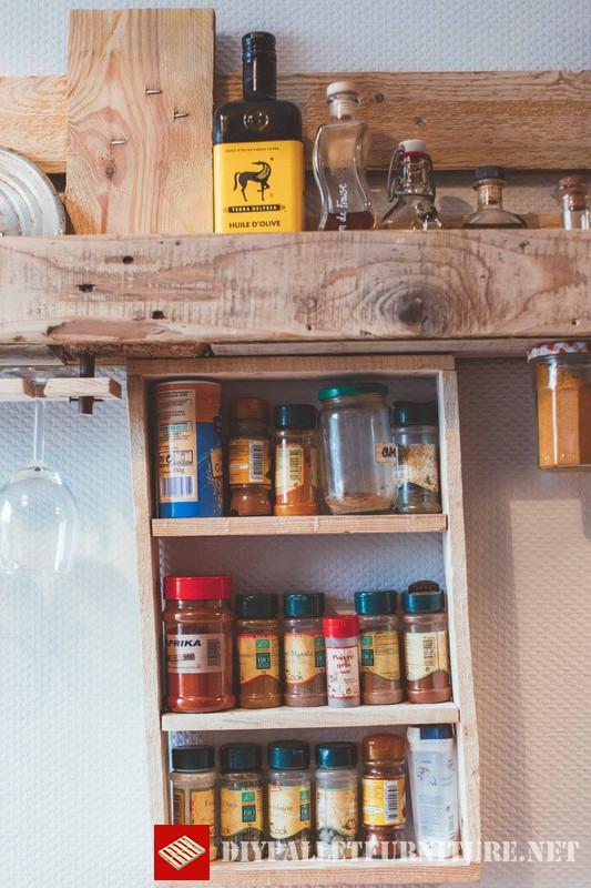 Meubles de cuisine auxiliaires avec palettesmeuble en - Table de cuisine en palette ...