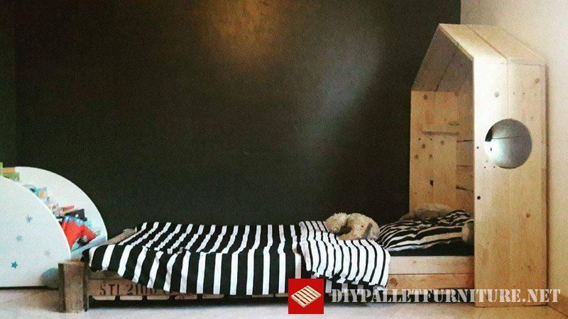 lit pour enfant 1meuble en palette meuble en palette. Black Bedroom Furniture Sets. Home Design Ideas
