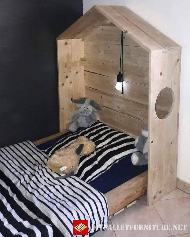 lit pour enfant 3meuble en palette meuble en palette. Black Bedroom Furniture Sets. Home Design Ideas