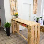 Table haute avec des palettes