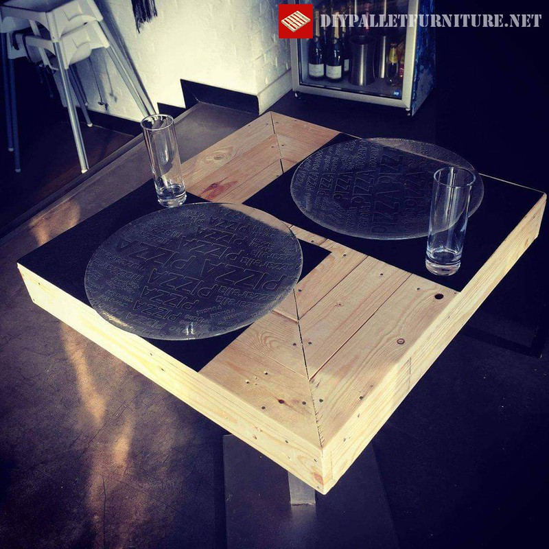 tables de bar avec palettesmeuble en palette meuble en palette. Black Bedroom Furniture Sets. Home Design Ideas