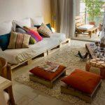 Salon et terrasse meublé de palettes