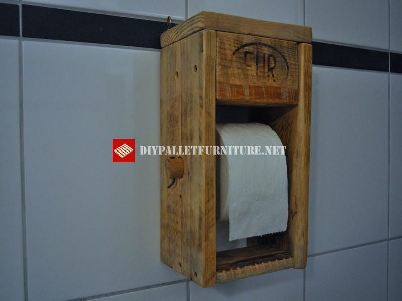 Porte rouleau de papier toilette 1meuble en palette for Meuble porte papier toilette