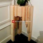 Table d'angle avec bois récupéré