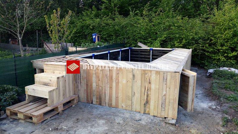 projet de piscine avec palettesmeuble en palette meuble. Black Bedroom Furniture Sets. Home Design Ideas