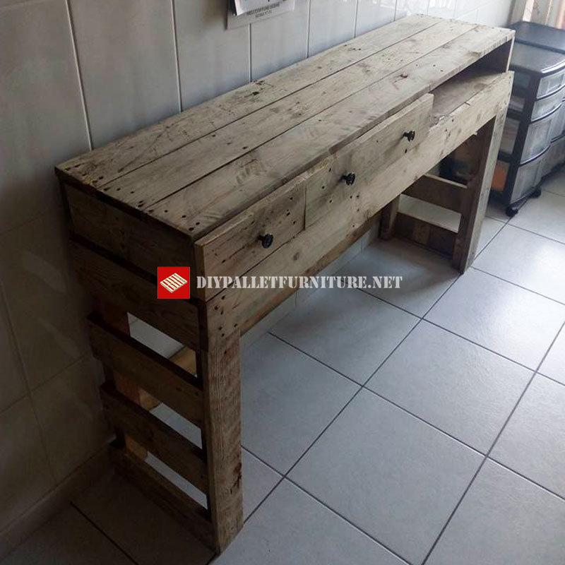 Table de cuisinemeuble en palette meuble en palette for Table cuisine palette