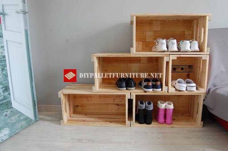 mobilier transformable avec caisses de fruitsmeuble en. Black Bedroom Furniture Sets. Home Design Ideas