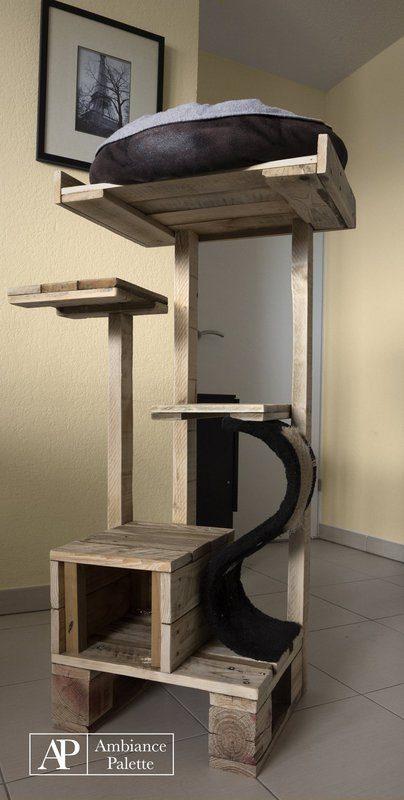 kit pour chats fabriques avec des palettes 4meuble en palette meuble en palette. Black Bedroom Furniture Sets. Home Design Ideas