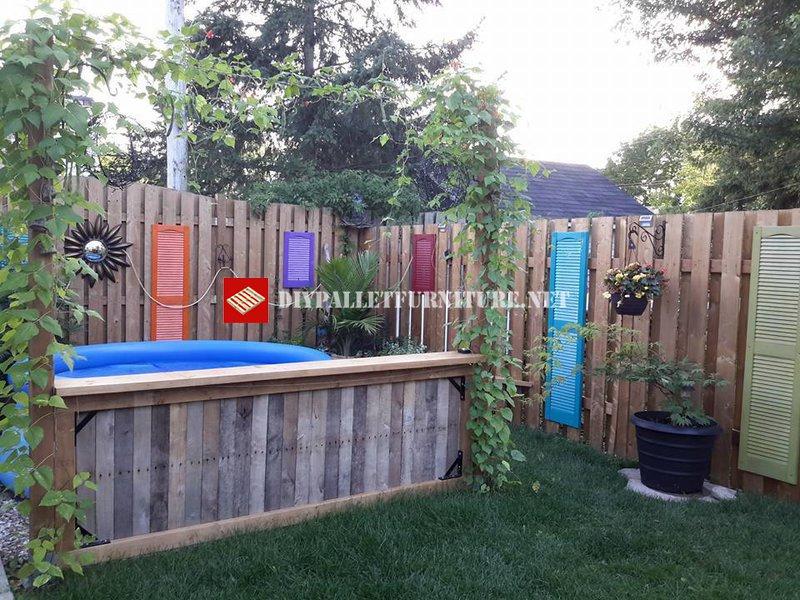 s parateur de piscine et de jardinmeuble en palette meuble en palette. Black Bedroom Furniture Sets. Home Design Ideas