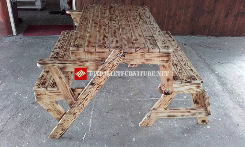 Table De Pique Nique Transformable En Bancmeuble En Palette Meuble