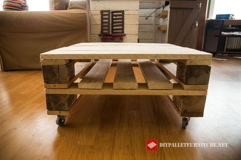 Vid o de la fa on de construire une table avec des - Construire une table avec des palettes ...