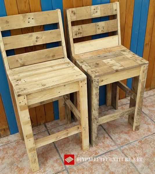 Chaises avec palettesmeuble en palette meuble en palette for Sillas hechas de palets