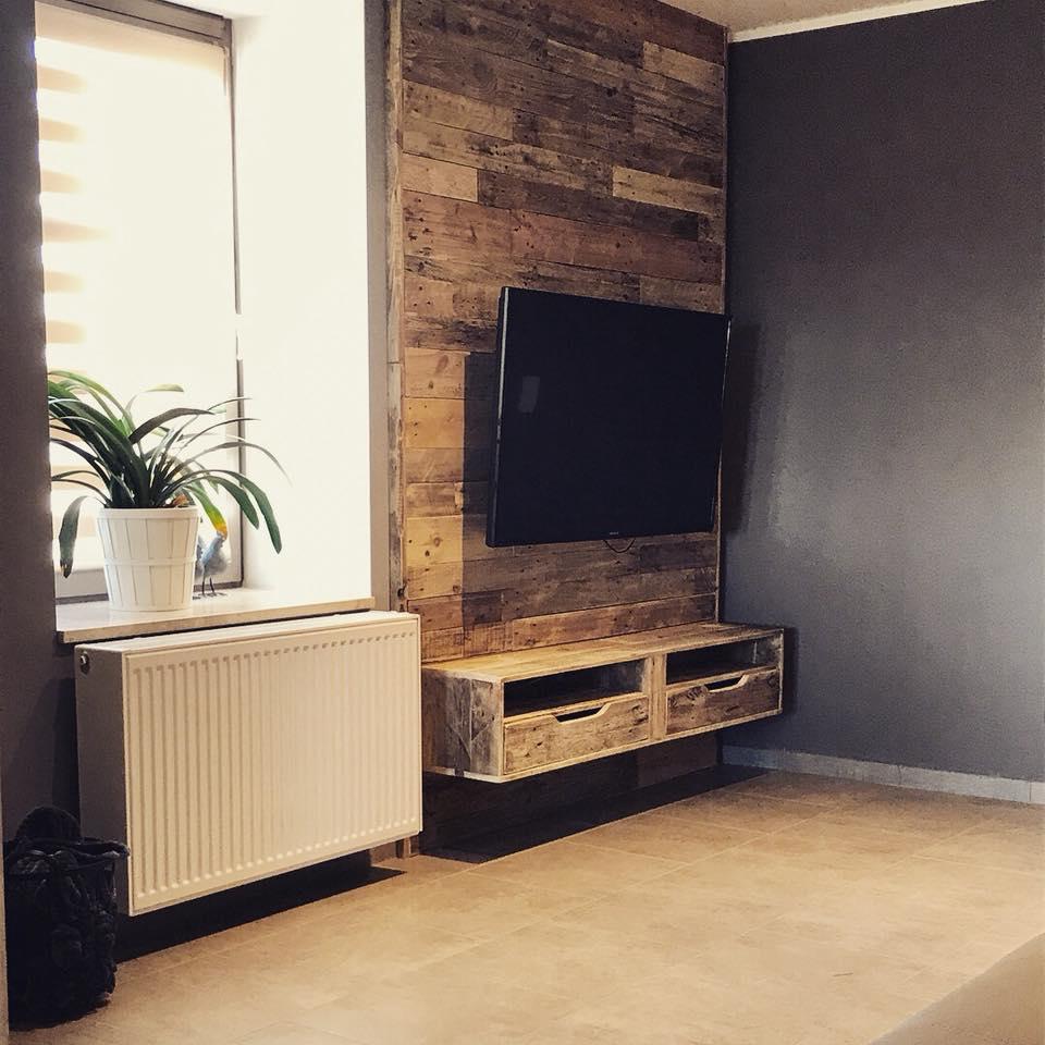 Meuble Tv Encastr Meuble En Palette Meuble En Palette # Meuble Avec Television Integre