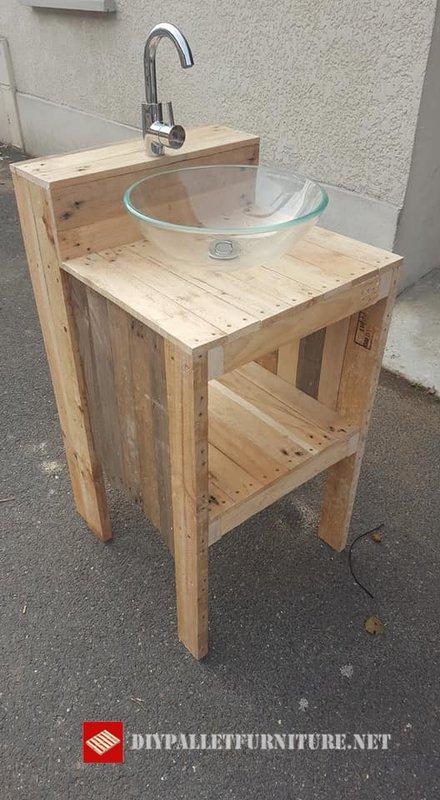Meuble vasque à poserMeuble en Palette   Meuble en Palette