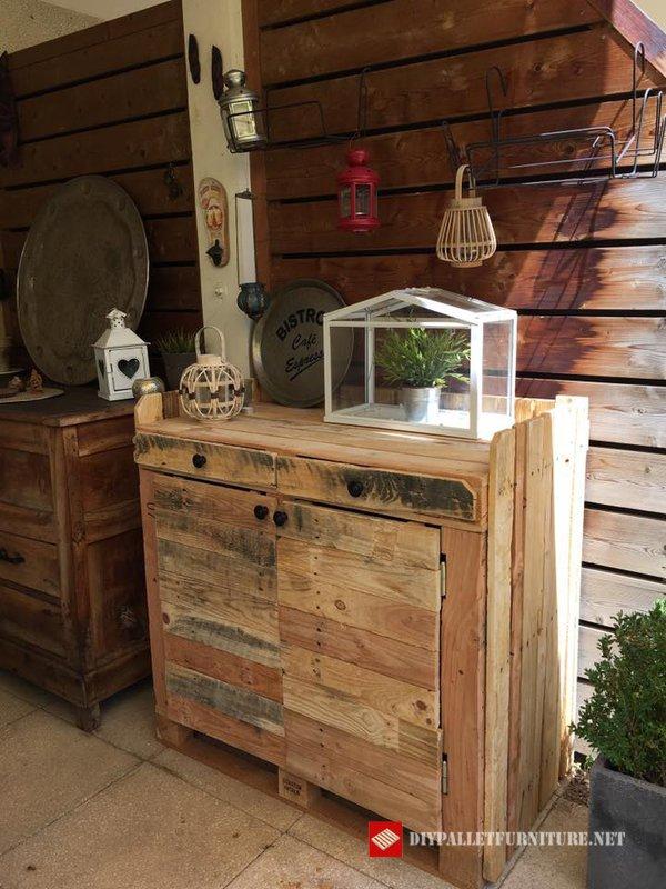 Meubles pour le jardinmeuble en palette meuble en palette for Les meubles en palettes