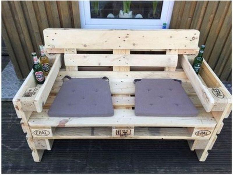 Banc d ext rieur avec tablemeuble en palette meuble en for Meuble exterieur