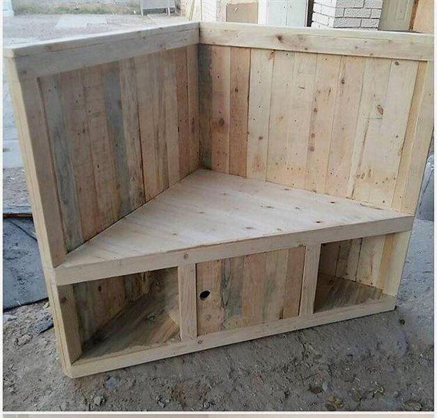 Petit canap d anglemeuble en palette meuble en palette for Canape william ii