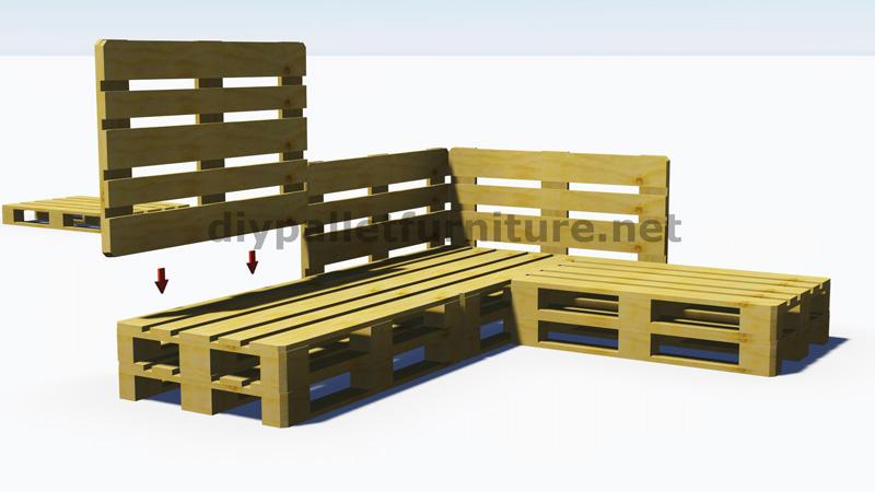 Instructions et plans 3D de la façon de faire un canapé pour ...